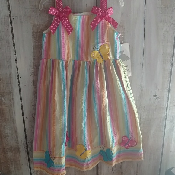 302affa794 New Rainbow Butterfly Dress Girls Size 6. Boutique. Rare Editions